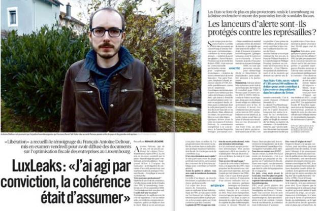 La source du premier épisode de LuxLeaks a désormais un visage et un nom dévoilés ce matin par Libération. (Photo: Libération)