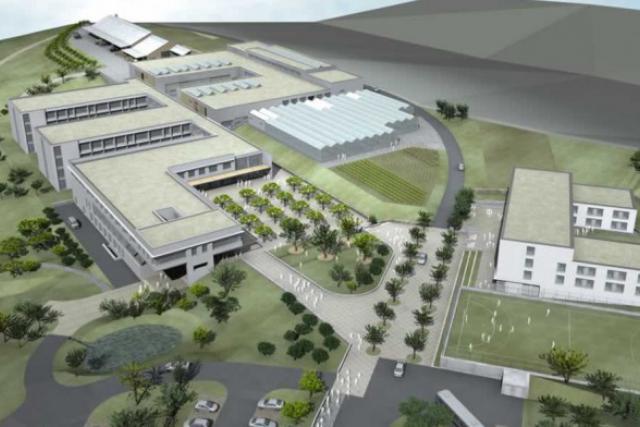 Le projet du futur lycée technique agricole, tel qu'il existait déjà en 2009. (Photo: Schmitz et Hoffmann architectes)