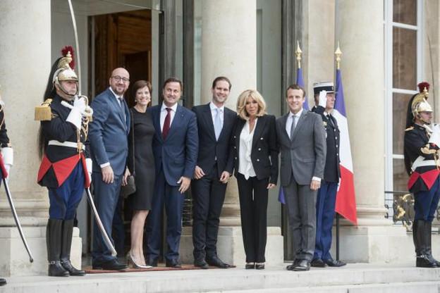 Après s'être réunis le 20 juillet à Paris, Charles Michel, Xavier Bettel et Emmanuel Macron se reverront au Luxembourg le 29 août. (Photo: Anthony Dehez)