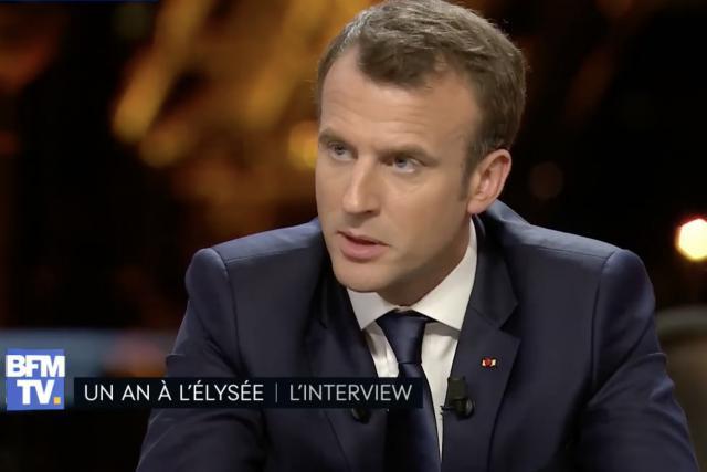 Emmanuel Macron n'aura pas été ménagé par cet exercice auquel il a volontiers participé. (Capture d'écran: BFMTV)