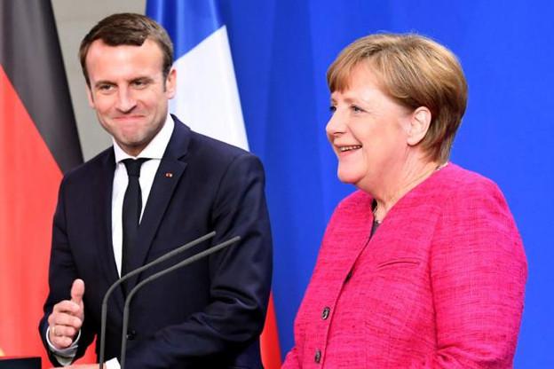 Le tandem Macron-Merkel était visiblement sur la même longueur d'onde ce mardi. (Photo: Licence C. C.)