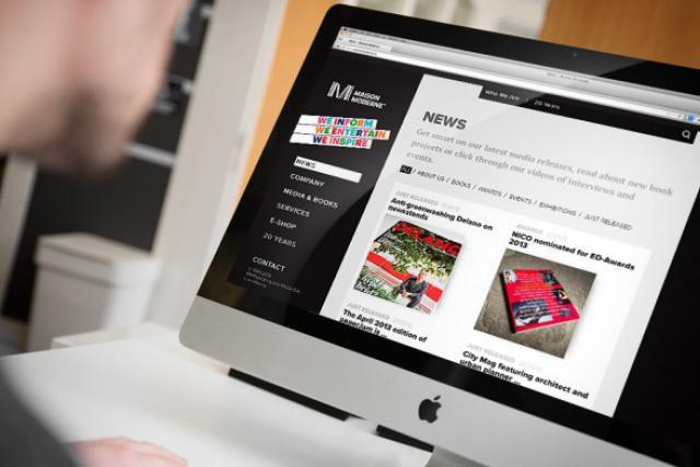 Le nouveau site de Maison Moderne présente dans le détail l'activité du premier groupe de presse indépendant du Luxembourg. (Photo: Maison Moderne Studio)