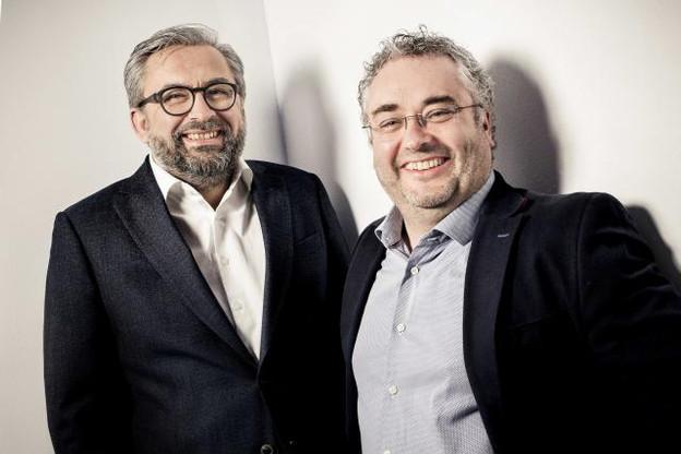 Mike Koedinger et Mike Sergonne, CEO respectifs de Maison Moderne et de Nvision. (Photo: Maison Moderne)