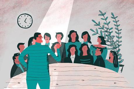 La prise de parole en public doit être soigneusement présentée pour ne pas se perdre dans l'avalanche d'informations qui envahissent nos journées. (Illustration: Maison Moderne)