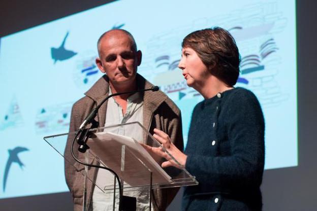 Jean Bechameil et Martine Feipel lors de la cérémonie de remise du Prix COAL2018. (Photo : Julie Bourges)