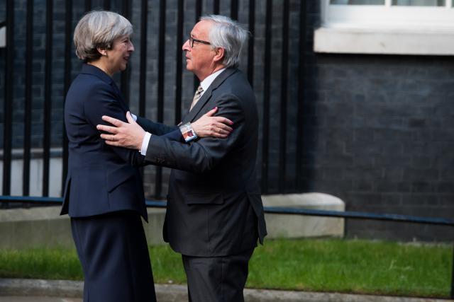 Le dîner de travail entre Theresa May et Jean-Claude Juncker intervient à quelques jours du début d'un Conseil européen qui doit bloquer le passage à la deuxième phase des négociations du Brexit. (Photo: Commission européenne/archives)