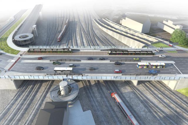 Le projet de construction de la nouvelle N3, validé en conseil de gouvernement, prévoit notamment la construction d'un nouveau pont Büchler, adapté au passage du tram.  (Photo: MDDI)