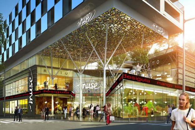 88 boutiques devraient s'installer dans le centre commercial Muse à l'automne 2017. (Photos: Apsys Group – Jean-Paul Viguier et Associés)