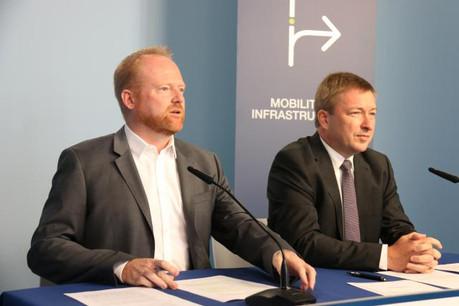 Claude Lamberty et Marc Hansen ont présenté le volet «Mobilité et infrastructures» du programme électoral du DP. (Photo: DP)
