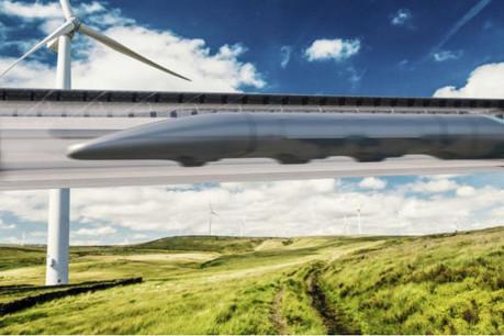 Selon Elon Musk, le train à très grande vitesse qui a reçu «l'accord verbal» du gouvernement américain reliera New York à Washington en 29 minutes. (Photo: Hyperloop One)