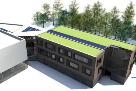 Ce bâtiment à énergie positive offrira quelque 2.100 m2 de surfaces de bureaux dès 2014.  (Visuel: IFSB)