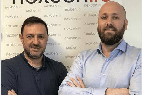 Eric Busch et Grégory Herbé voient dans Station F une première étape dans l'internationalisation de Nexten.io. (Photo: Nexten.io)