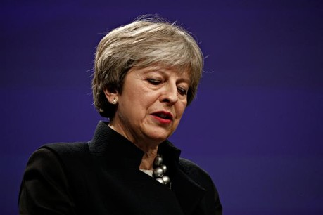 Theresa May semble cette fois à court d'arguments face à son Parlement. (Photo: Shutterstock)