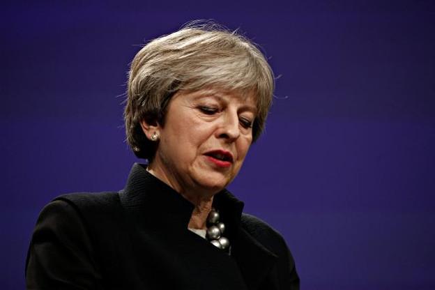Theresa May semble cette fois à court d'arguments face à son Parlement. (Photo: Shutterstock)