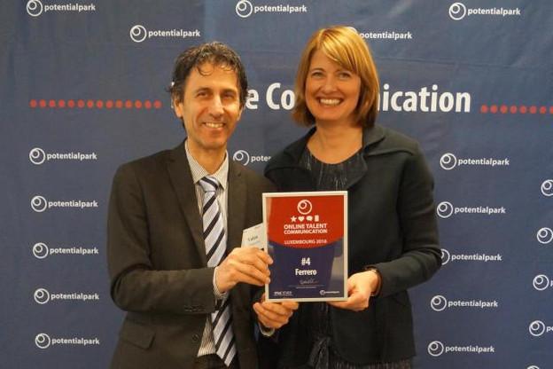 Ferrero International vient d'être récompensé par Potentialpark pour son site carrières.  (Photo: Studion Photography)