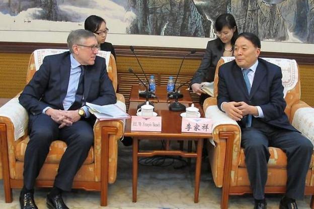 Pour la cinquième fois depuis son entrée en fonction, François Bausch, ministre du Développement durable et des Infrastructures, se trouve en Chine. Ce voyage devrait aboutir à la signature de plusieurs contrats pour le secteur logistique. (Photo: SIP)