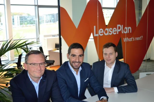 Serge Cathenis, Joël Fernandes et Alessandro Tutucci (de gauche à droite), le nouveau trio de management pour LeasePlan Luxembourg. (Photo: LeasePlan Luxembourg)