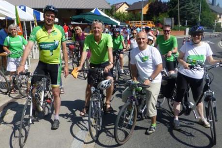 Pendant la campagne législative, les Verts avaient sorti leurs vélos sur les routes bucoliques de la vallée Mamerdall. (Photo: Blog Claude Adam)