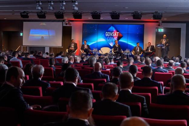 La conférence sur la défense et la sécurité de l'UE a réuni près de 500 experts et professionnels des satellites gouvernementaux à l'European Convention Center. (Photo: Nader Ghavami)