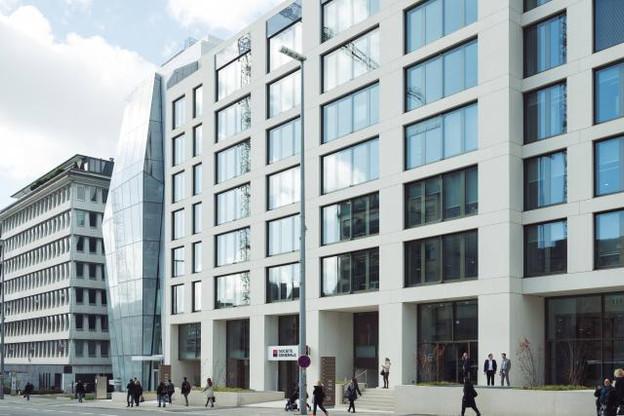 Le contrat de location de l'immeuble a été signé en juin 2016 entre la banque et le propriétaire, le Fonds de Compensation. (Photo: Sébastien Goossens)