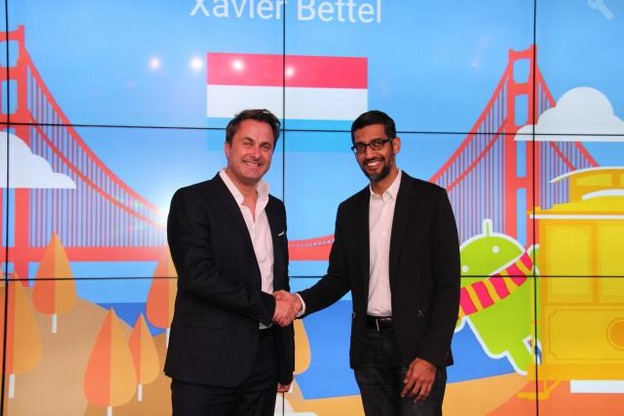 «Lors d'une visite à Googleplex et dans le cadre d'une rencontre avec le CEO de Google, Sundar Pichai, la société a présenté ses projets et ses activités actuelles et futures», précise simplement le communiqué du gouvernement. (Photo: www.gouvernement.lu)