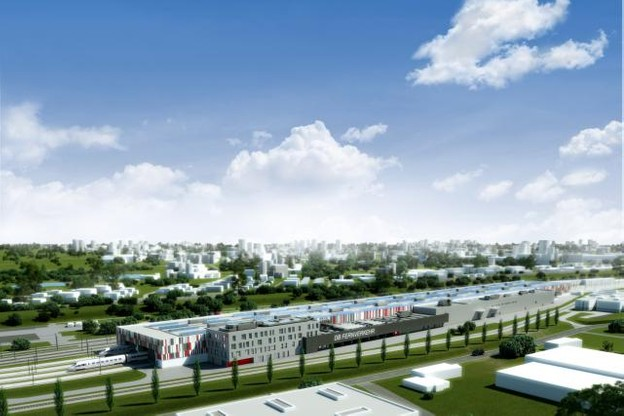 Parmi les projets d'infrastructures menés par le groupe luxembourgeois, la nouvelle halle de maintenance pour trains à Köln-Nippes. (Illustration: DB International ; Werke & Hochbau)