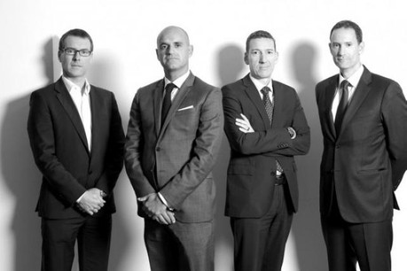 Ian Forsyth (FIAD), Raphaël Xiol (ING), Marc Baertz (Property Partners) et Michael Chidiac (RealCorp) (Photo: Luc Deflorenne)
