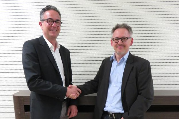 Après 12 ans à la tête de la Fegarlux, Ernest Pirsch (à gauche)  cède sa place à Philippe Mersch (à droite). (Photo: Olivier Minaire/archives)