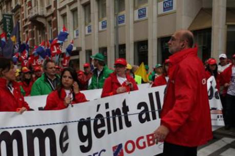 La manifestation aura lieu entre 9 heures et 11 heures. (Photo: OGBL)