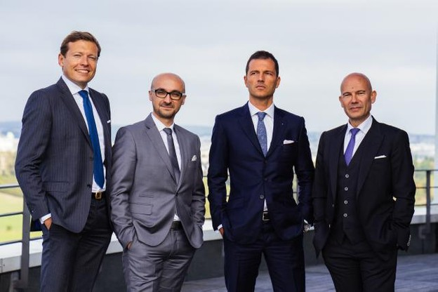 De gauche à droite: Renaud Oury, deputy managing director and market leader; Jean-Marie Bettinger, managing director; Pascal Rapallino, group family office leader; Serge Krancenblum, CEO. (Photo: Sven Becker)
