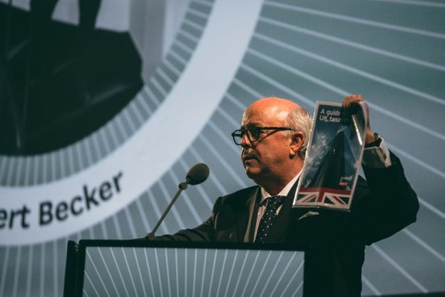 Norbert Becker a fait fort lors de la soirée Top 100 Paperjam. (Photo: Sven Becker)