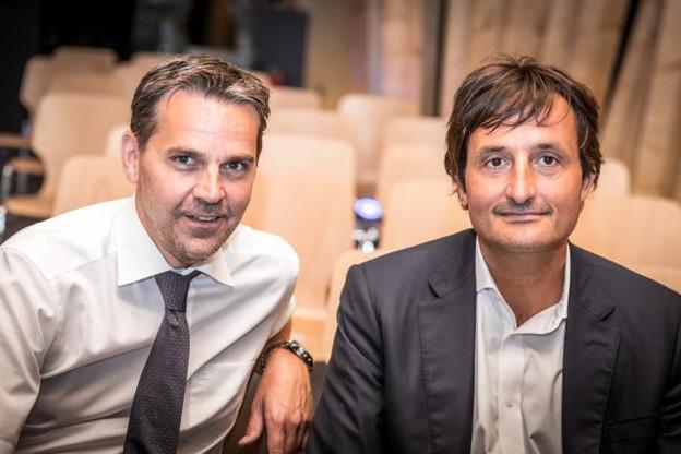 Marc Muller et Nicolas Buck partagent leurs conseils et leur regard sur l'entrepreneuriat. (Photos: Benjamin Champenois)