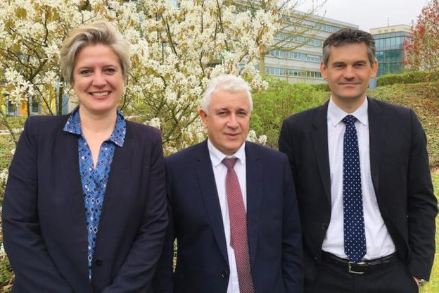 Marie Bourlond, Laurent Moser et Vincent Salzinger ont été nommés à la présidence de l'Alco pour un mandat de deux ans.  (Photo: Alco)