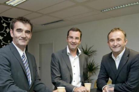 Cyril Dagand et Jérôme Grandidier; fondateurs de SIT Group, ont été rejoints en 2009 par Gilles Saint-Guillain (à droite)  (Photo: Andrés Lejona)