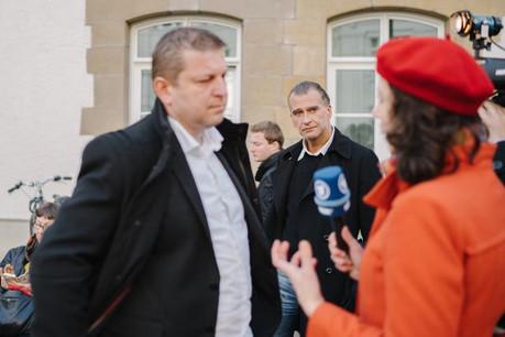 Place mercredi aux plaidoiries des défenseurs de Raphaël Halet, dont Me Bernard Colin, et d'Édouard Perrin. (Photo: Marion Dessard)