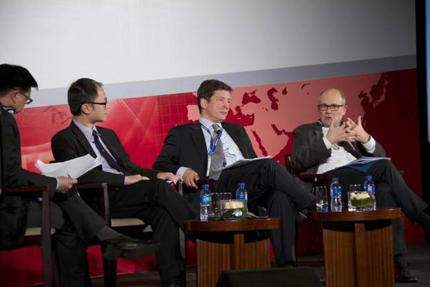 L'intérêt du Luxembourg s'est manifesté tôt. Par exemple, en novembre 2013, Nicolas Mackel, CEO de Luxembourg for Finance, était déjà à la Renminbi World Conference à Pékin. (Photo: Luxembourg for Finance / archives)