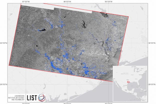 L'extraction d'images satellitaires radar permet au List d'offrir une cartographie précise des inondations et de leur évolution aux autorités fédérales américaines. (Photo: List)