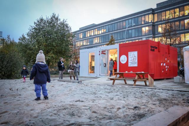 La Quartier Stuff est un projet pilote permettant de mettre en place une stratégie de quartier, en incluant tous les usagers du site. (Photo: Bunker Palace)