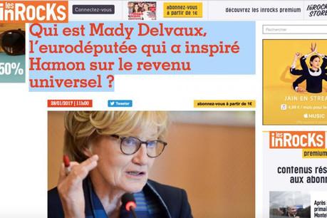 Mady Delvaux se réjouit que le débat sur le revenu universel trouve un écho via la primaire de la gauche en France. Mais elle demande que le sujet soit désormais traité sur le fond au Parlement européen. (Photo: capture d'écran)