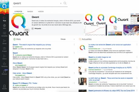 Qwant se veut une alternative à Google, en respectant les données personnelles de ses utilisateurs. (Photo: Capture d'écran / Qwant.com)