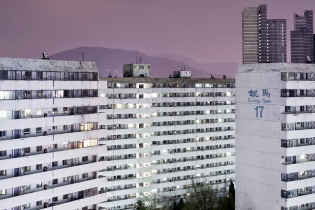 Eunma Town compte 4.424 appartements en plein cœur du quartier des académies privées. (Photos: Sébastien Cuvelier)