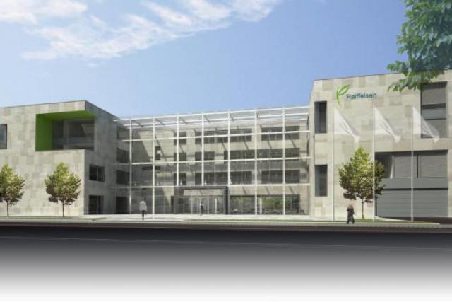 Le bâtiment respecte l'ensemble des dispositions en vigueur en matière de protection de l'environnement. (Photo: Raiffeisen)
