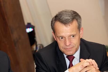 Guy Hoffmann (Raffeisen): « Le projet de coopération pour les CCP consomme beaucoup d'énergie.» (Photo: Luc Deflorenne / archives)
