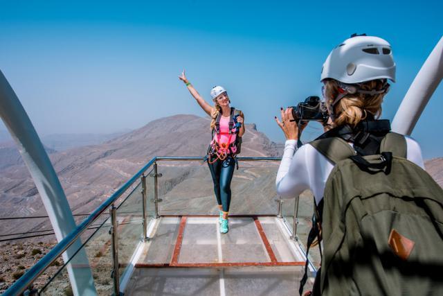 Ras Al Khaimah a l'ambition de devenir une destination incontournable au niveau mondial pour les voyages de tourisme et d'affaires. Sa tyrolienne est l'une des ses attractions phares. (Photo: RAKTDA)