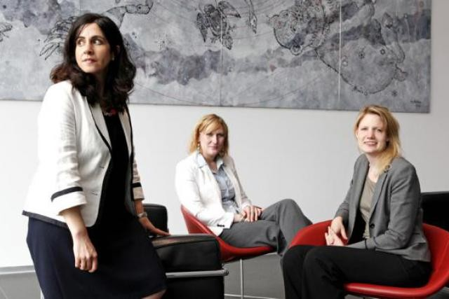 Ricarda Colborn (Hudson), à droite, avec Annie Elfassi (Loyens & Loeff) et Aline Weier (Hudson) (Photo : Olivier Minaire)