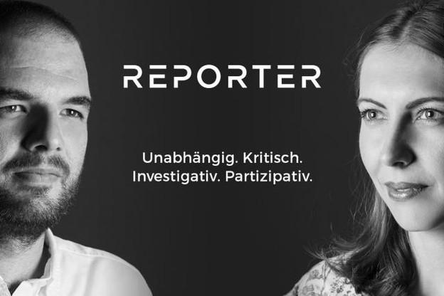 Christoph Bumb et Laurence Bervard annonçaient lundi le lancement d'un magazine digital. ( Photo : Reporter.lu )