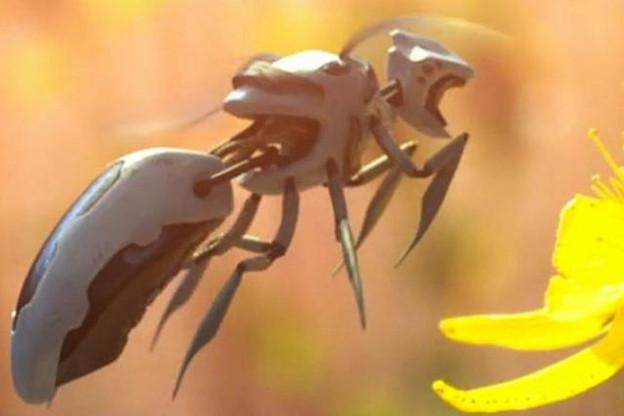 Walmart a déposé un brevet pour créer des drones capables de collecter le pollen et de le transporter d'une plante à l'autre. (Capture d'écran: Polynoid / Greenpeace / Vimeo)