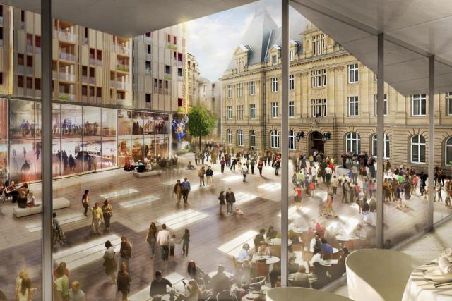 Cet espace urbain imortant sera complètement transformé. Début des travaux imminent. (Illustration: Codic)