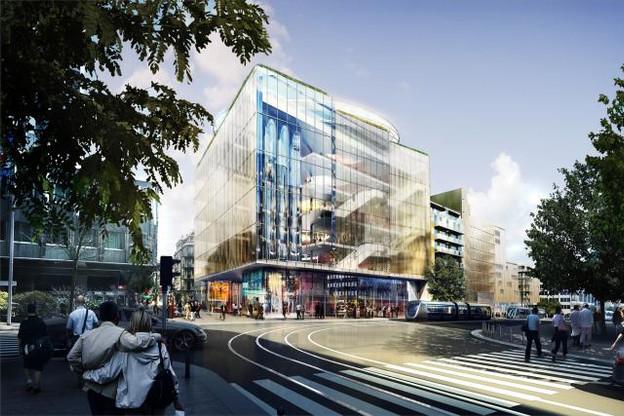 Le futur centre commercial Royal-Hamilius fait partie des quatre nominés dans la catégorie des «Best Futura Shopping Centre». (Visuel : Codic International