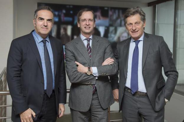 Christopher Baldelli, président de RTL Radio (France), Guillaume de Posch, co-CEO de RTL Group et Nicolas de Tavernost, président du directoire du Groupe M6. (Photo: Serge Arnal pour M6)